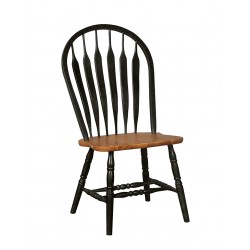 Madison Park Windsor Chair - Black and Cherry Finish