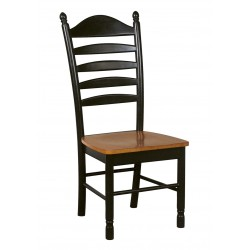 Madison Park Ladderback Chair - Black and Cherry Finish