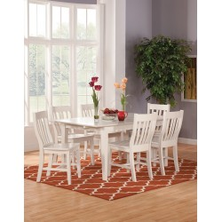 Simply Linen Extension Table and Six Cafe Chairs