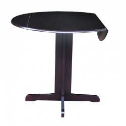 "Dining Essential : 36"" Round Top Drop Leaf Table"