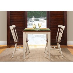 """Dining Essentials: 36"""" Square Top Shaker Table and Two Copenhagen Chairs"""