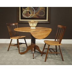 "Dining Essentials: 42"" Drop Leaf Table & Two Copenhagen Chairs"