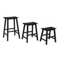 Wooden Slat-Seat Stools (Various)