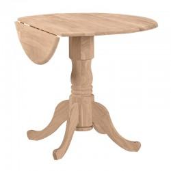"36"" Round Dropleaf Pedestal Table"
