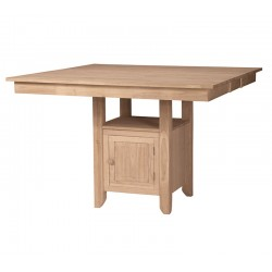 Gathering Table with Butterfly Leaf and Square Storage Base