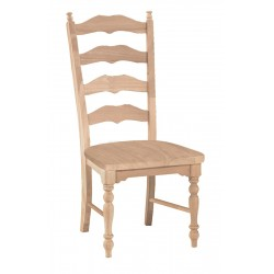 Maine Ladder Back Chair with Wood Seat