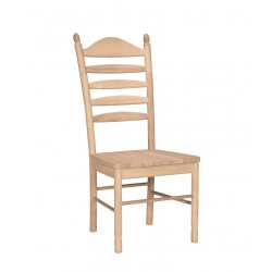 Bedford Ladderback Chair with Wood Seat
