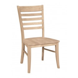 Roma Chair with Wood Seat