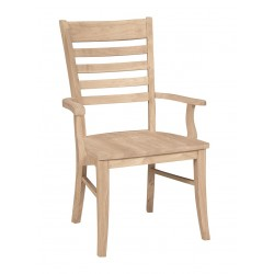 Roma Arm Chair with Wood Seat