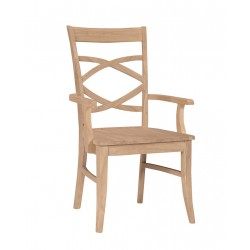 Milano Arm Chair with Wood Seat C-316AB