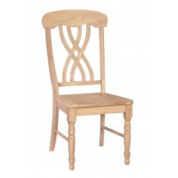 Lattice Chair with Wood Seat