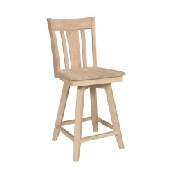San Remo Swivel Stools with Wood Seat