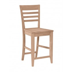 Roma Stool with Wood Seat