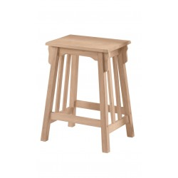 "Mission Stool 24"" Seat height"