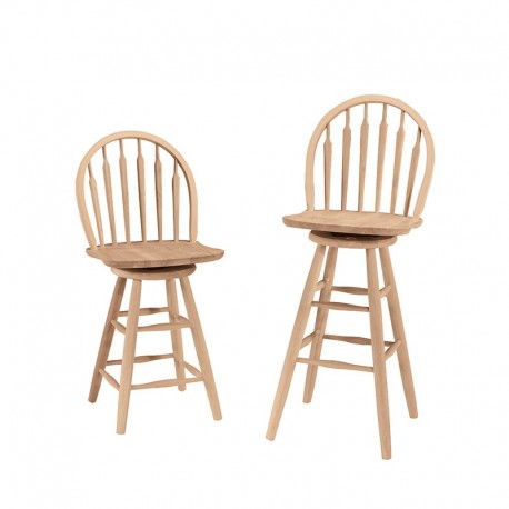 Windsor Arrowback Swivel Stool