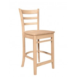 Emily Stool with Wood Seat