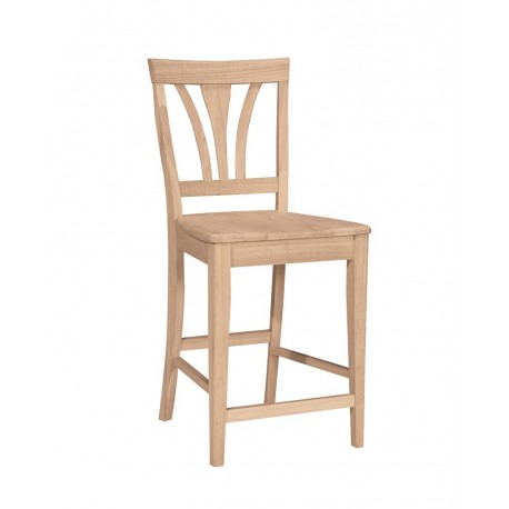 Fanback Stool with wood seat