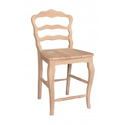Versaille Ladderback Stool with Wood Seat