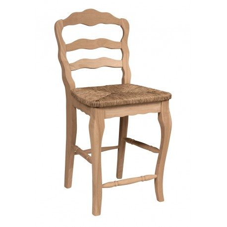 Versaille Ladderback Stool with Rush Seat
