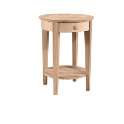 "Phillips 21"" Round Top Bed Side Table"