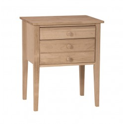 Two Drawer Country Accent Table