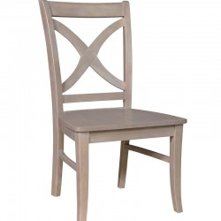 Cosmopolitan Salemo Cross Back Chair : Weathered Gray